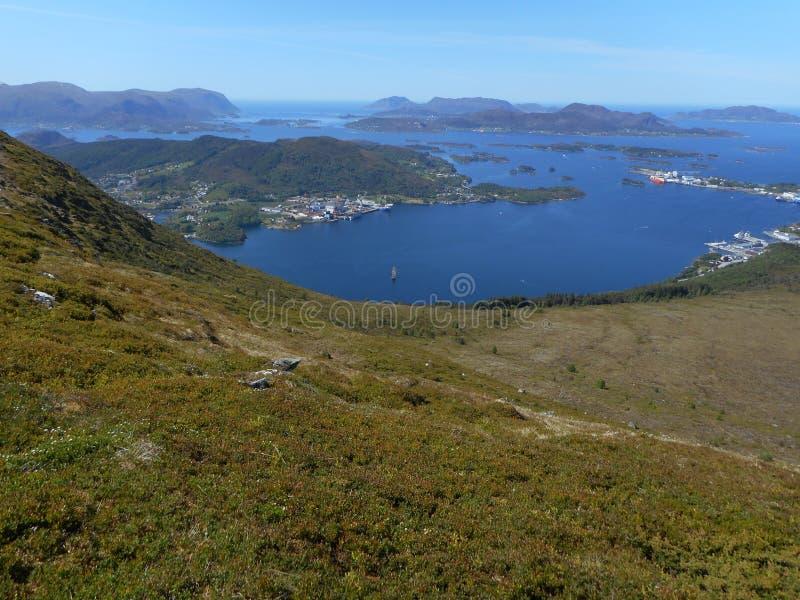 Immagini dell'isola di Hareidlandet immagine stock