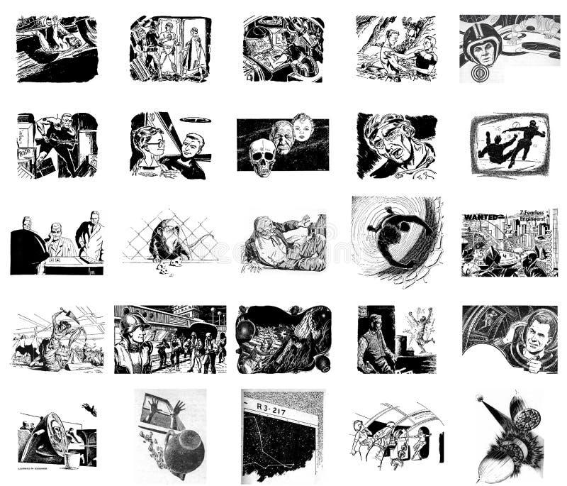 Immagini della fantascienza retro royalty illustrazione gratis