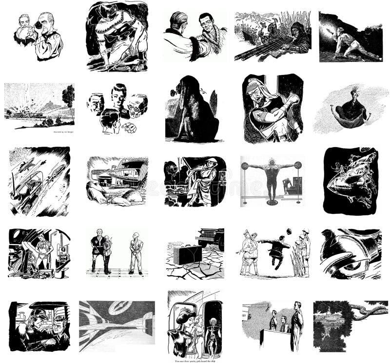 Immagini della fantascienza retro illustrazione di stock