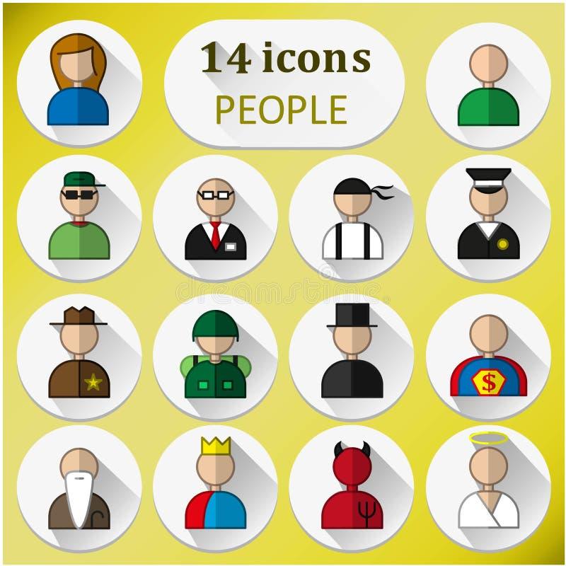 14 immagini della gente illustrazione vettoriale