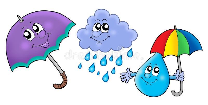 Immagini della pioggia di autunno royalty illustrazione gratis