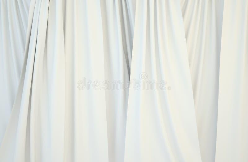 Immagini delle tende bianche fotografia stock