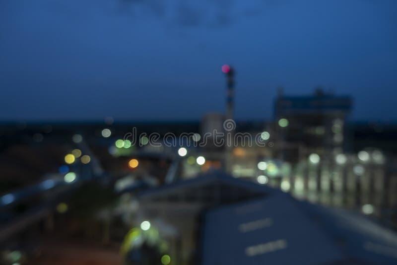 Immagini di sfondo vaghe delle fabbriche di industria chimica fotografia stock