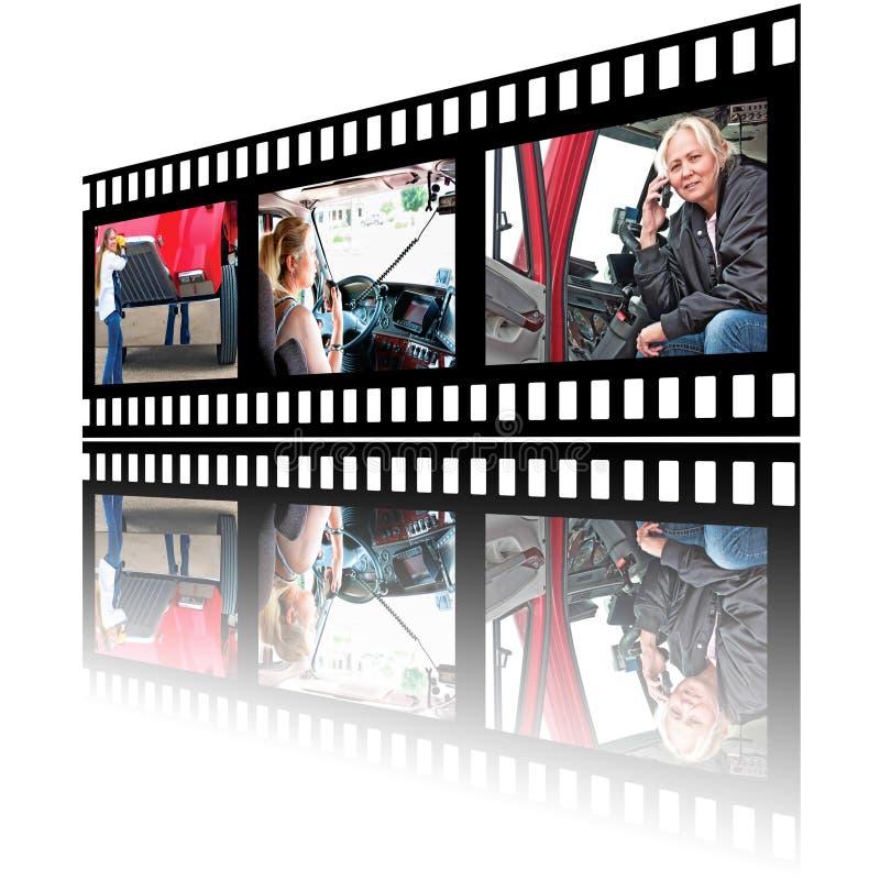 Immagini di Stip del film dell'autista di camion della donna royalty illustrazione gratis