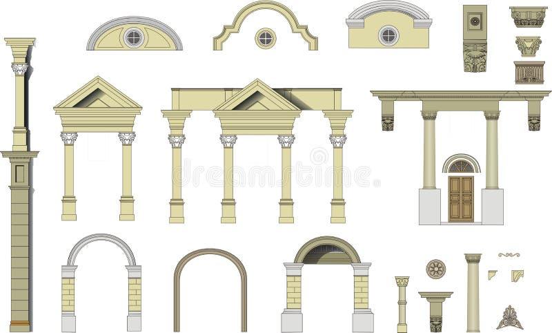 Immagini di vettore di piccoli moduli architettonici immagini stock libere da diritti