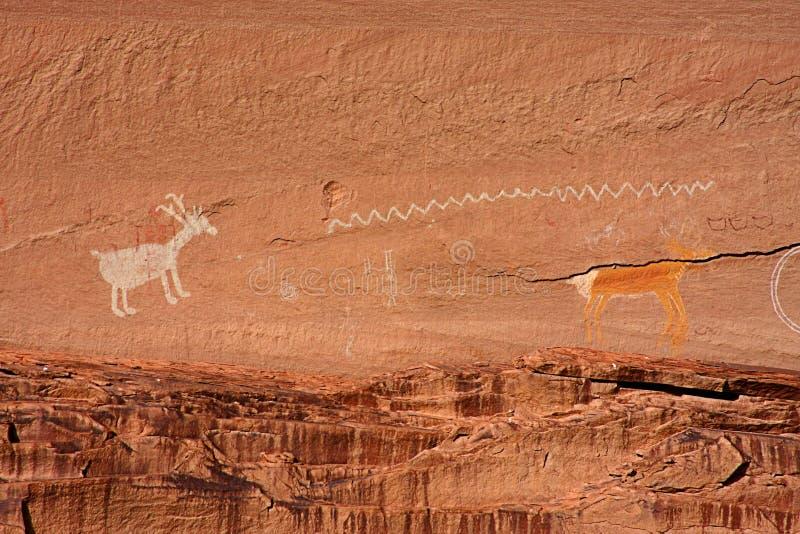 Immagini grafiche antiche del Navajo e di Anasazi immagine stock libera da diritti
