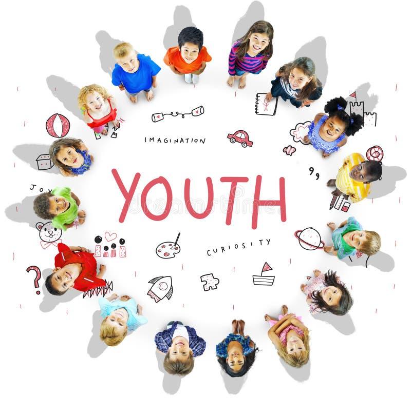 Immagini l'icona Conept di istruzione di libertà dei bambini immagine stock libera da diritti