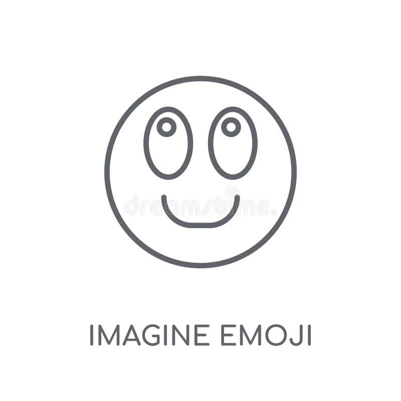 Immagini l'icona lineare di emoji Il profilo moderno immagina il raggiro di logo di emoji illustrazione vettoriale