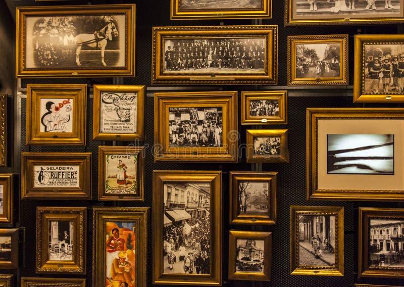 Immagini in museo di calcio a Sao Paulo, Brasile immagine stock libera da diritti
