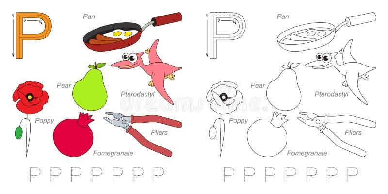 Immagini per la lettera P royalty illustrazione gratis