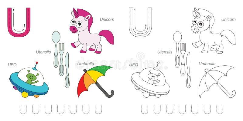 Immagini per la lettera U illustrazione vettoriale