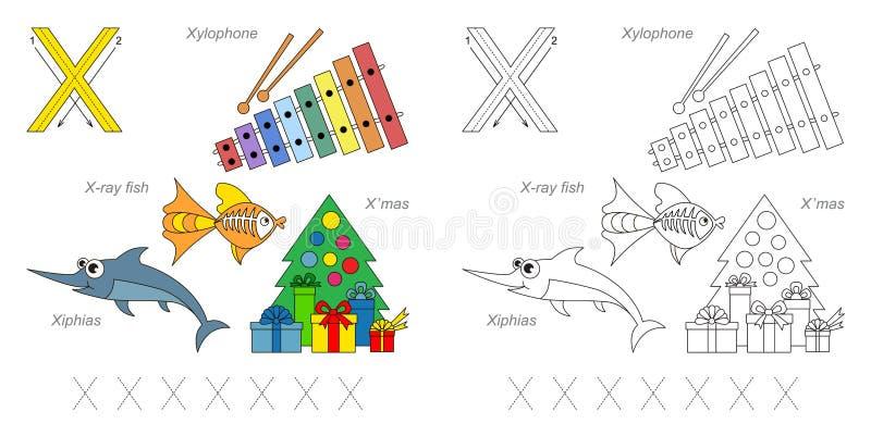 Immagini per la lettera X illustrazione di stock