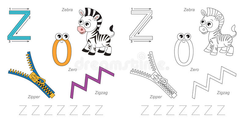 Immagini per la lettera Z royalty illustrazione gratis