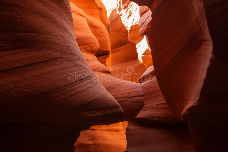 Immagini reali del canyon più basso dell'antilope in Arizona, U.S.A. fotografia stock libera da diritti