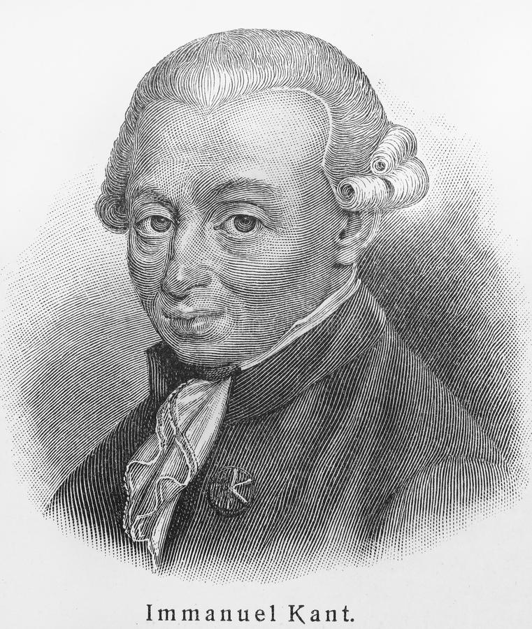 Immanuel Kant photo stock