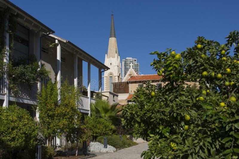 Immanuel Lutheran Church Tel-Aviv-Jaffa l'israel photographie stock libre de droits