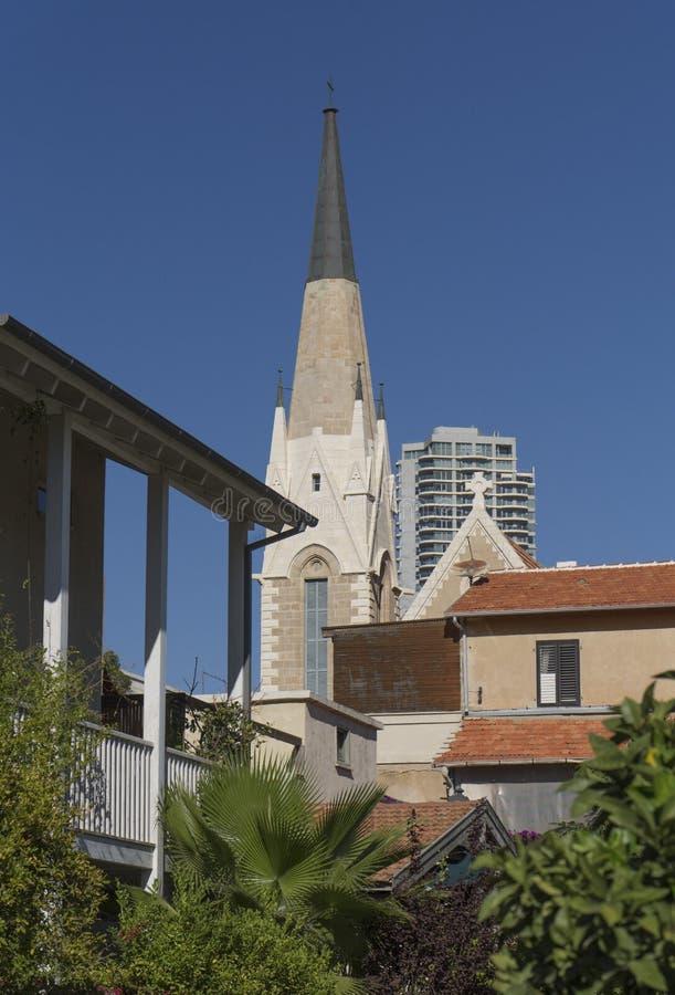 Immanuel Lutheran Church Tel-Aviv-Jaffa l'israel image libre de droits