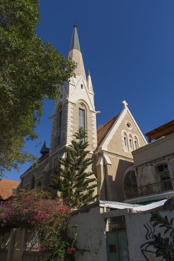 Immanuel Lutheran Church Tel-Aviv-Jaffa l'israel photos stock
