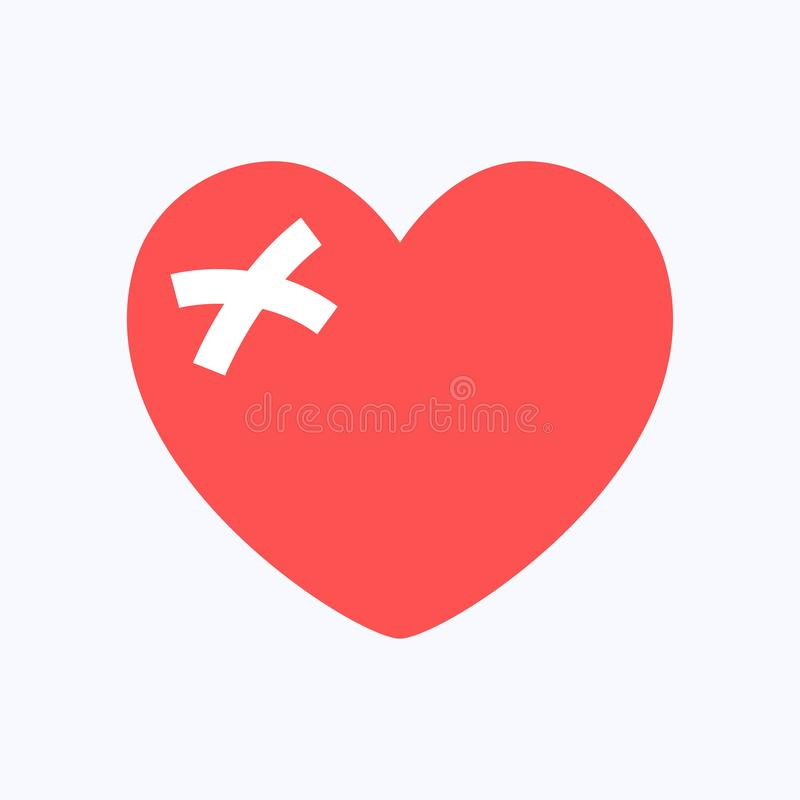 Immense chagrin ou coeur bris? rouge illustration libre de droits