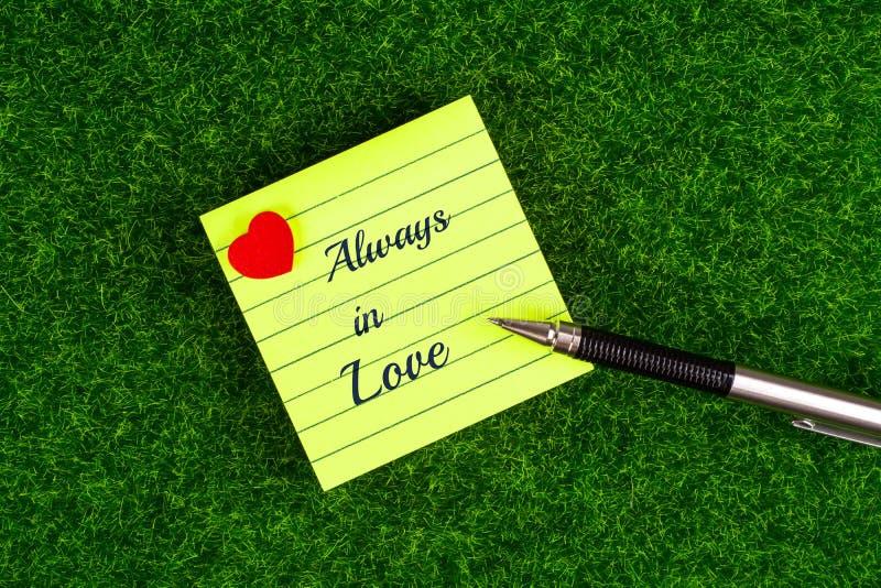 Immer in der Liebe stockbild