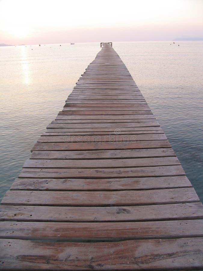 Immer währender Pier lizenzfreies stockbild