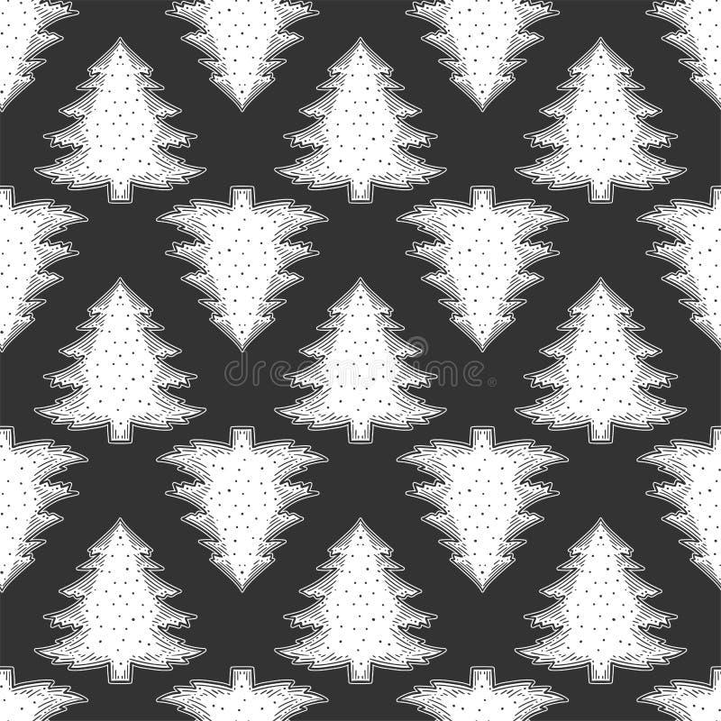 Immergr?ne Kiefer Vektorkonzept in der Gekritzel- und Skizzenart Handgezogene Illustration für den Druck auf T-Shirts, Postkarten stock abbildung