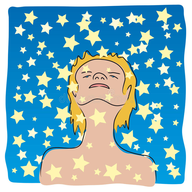 Immersed In The Stars (vector) Stock Images