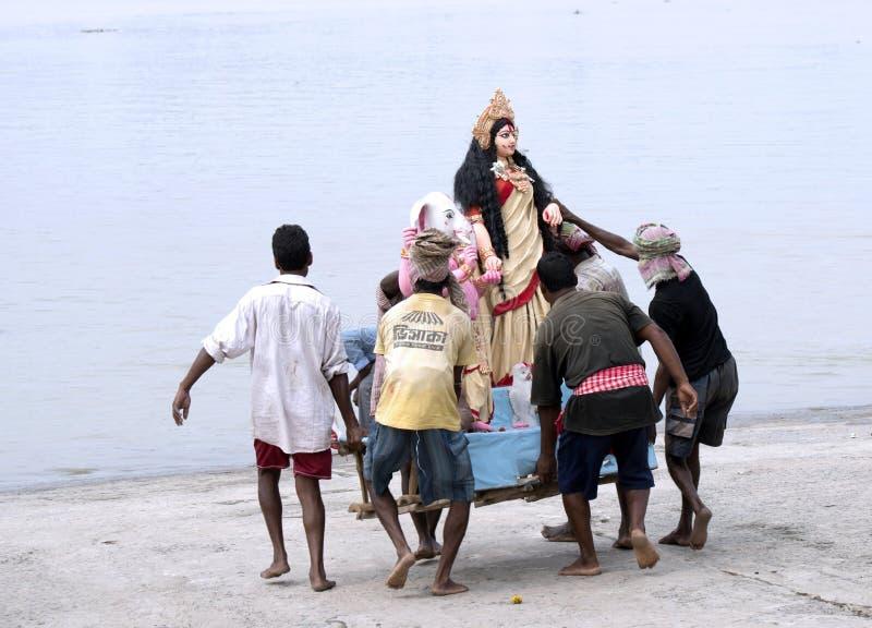 Immersion av gudinnan Durga, Kolkata royaltyfri bild