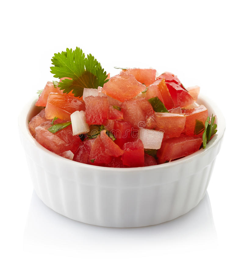 Immersione della salsa fotografie stock
