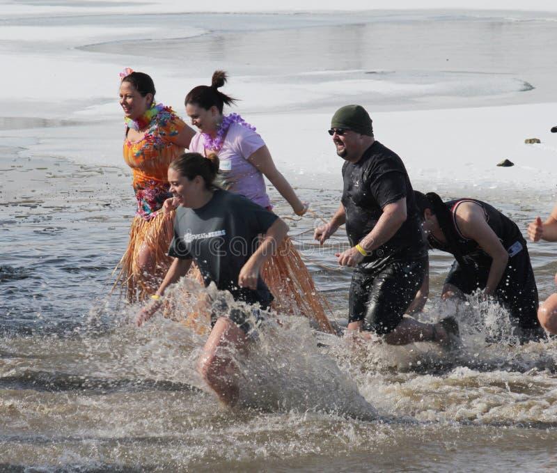 Immersione polare del Nebraska di giochi paraolimpici fotografia stock libera da diritti