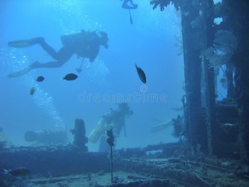 Immersione subacquea del naufragio fotografia stock libera da diritti