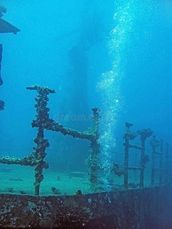 Immersione subacquea del naufragio fotografie stock libere da diritti