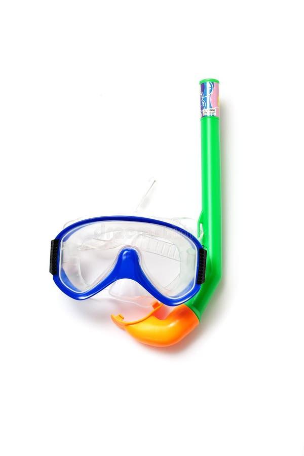 Immersione subacquea di presa d'aria e della mascherina fotografia stock