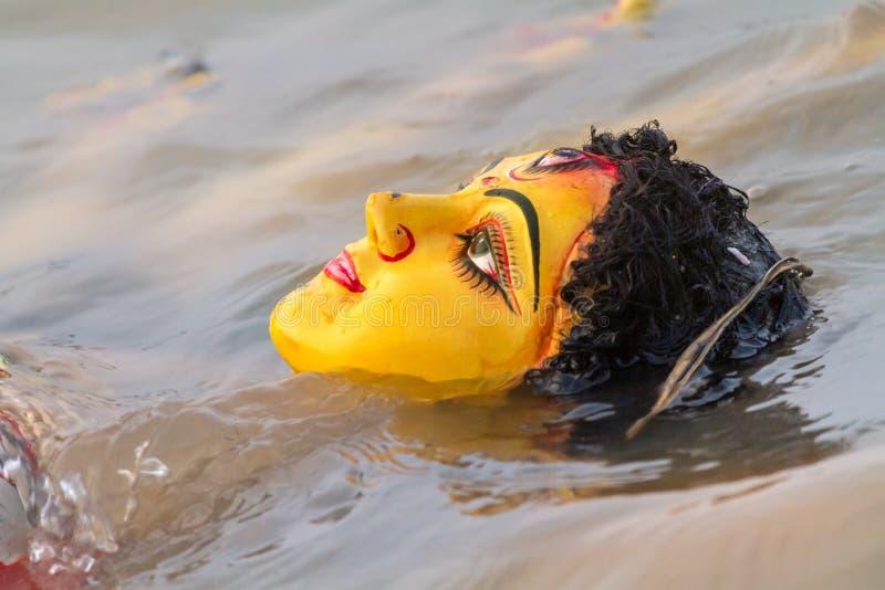 Immersja Durga idol fotografia stock