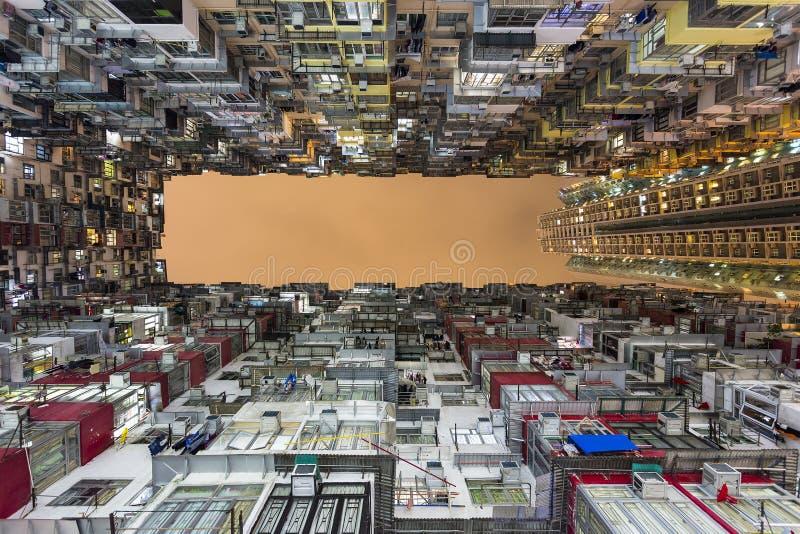 Immeuble coloré et dense dans la baie de carrière, Hong Kong photo libre de droits