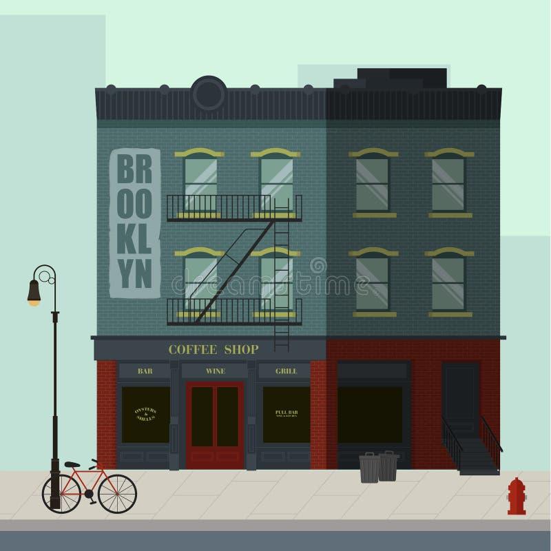 Immeuble de Brooklyn illustration stock