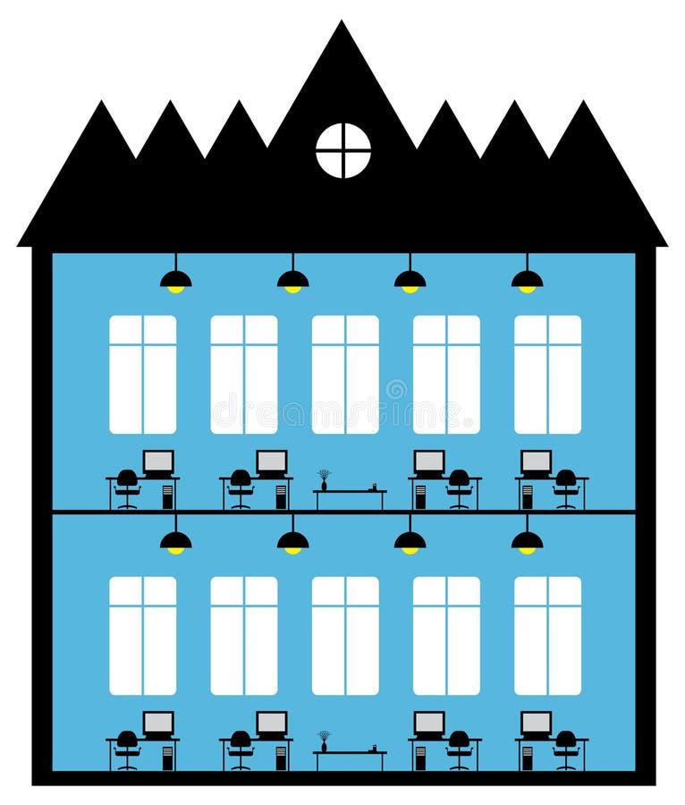 Immeuble de bureaux illustration de vecteur