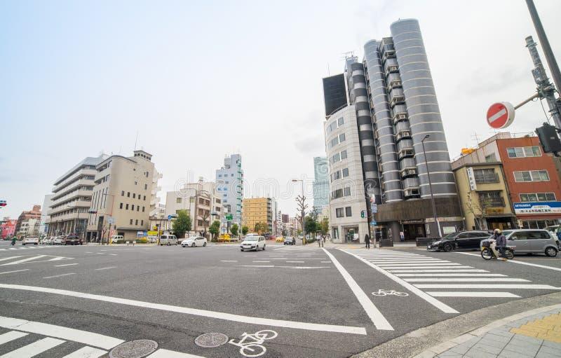 Immeuble de bureaux ayant beaucoup d'étages en Osaka Business District photo libre de droits