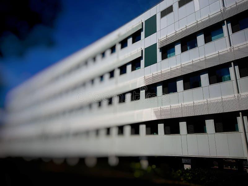 Immeuble de bureaux blanc photographie stock libre de droits
