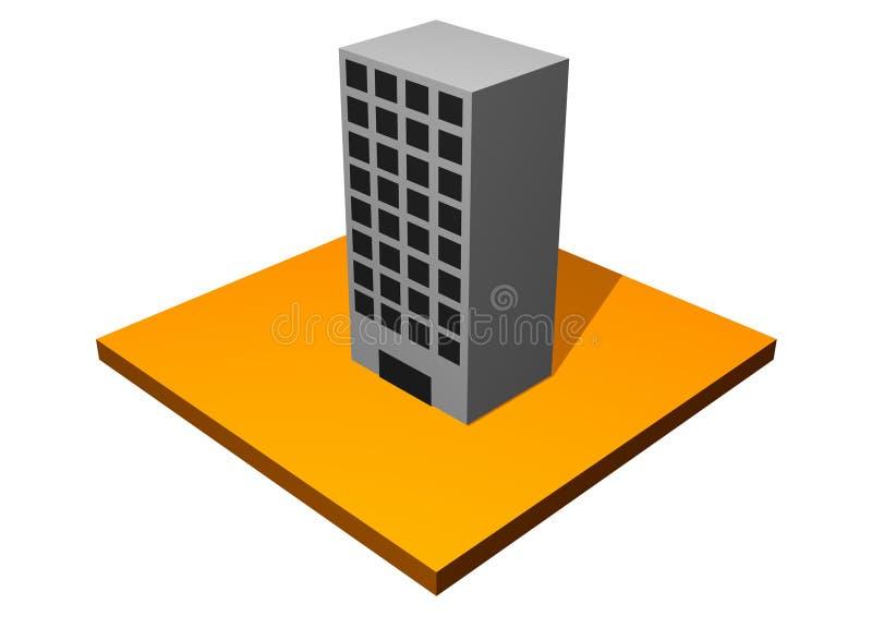 Immeuble de bureaux d'hôtel illustration libre de droits