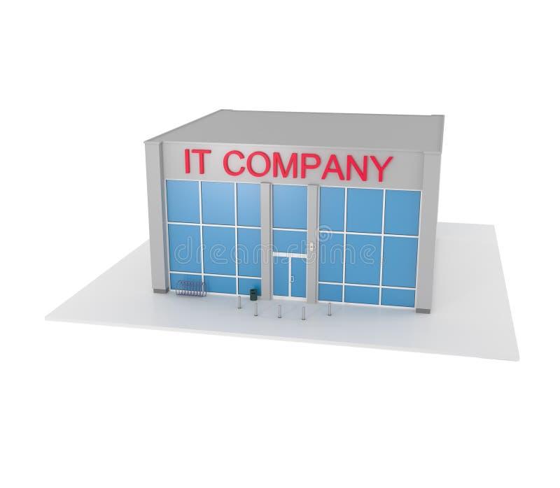 Immeuble de bureaux de société informatique sur le blanc illustration libre de droits