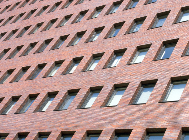 Immeuble de bureaux moderne de l'immeuble photographie stock libre de droits