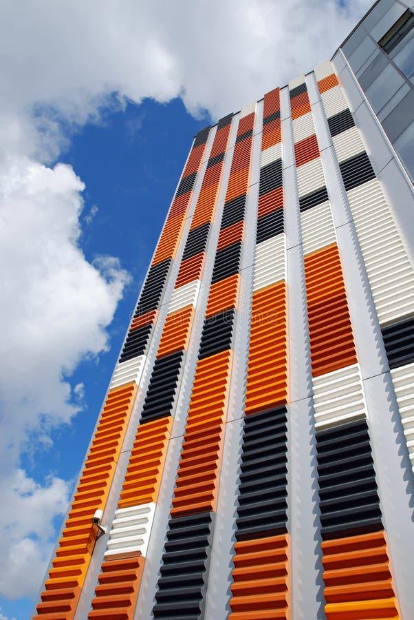 Immeuble de bureaux orange image stock