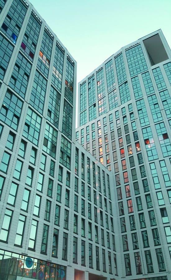 Immeuble de bureaux de Windows pour le fond photo libre de droits