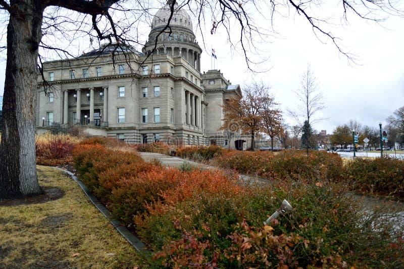 Immeuble Idaho State Capitol Building façade sud-ouest en hiver photo libre de droits