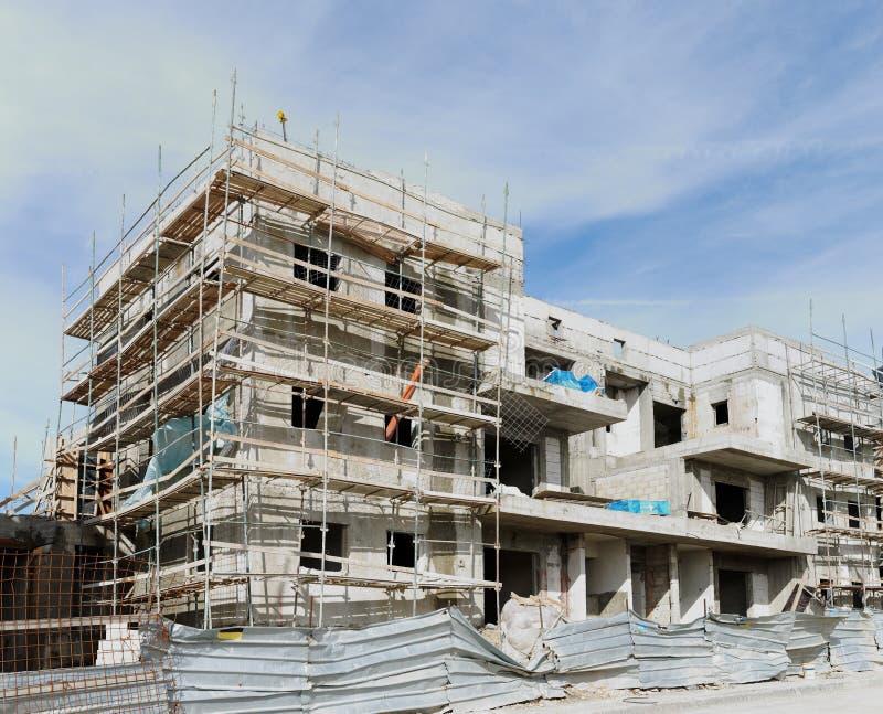 immeuble Trois-storeyed en construction photo stock