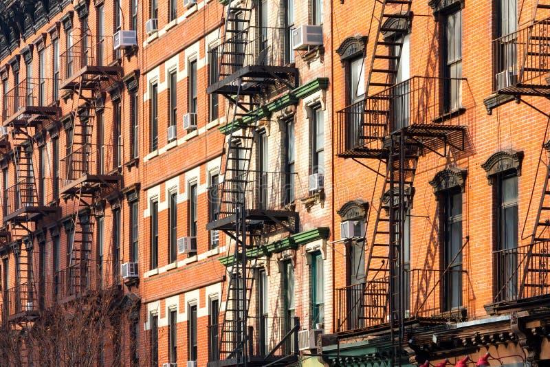 Immeubles à New York City images libres de droits