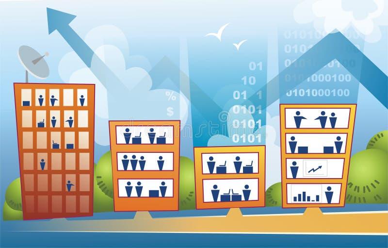 Immeubles de bureaux de corporation illustration de vecteur