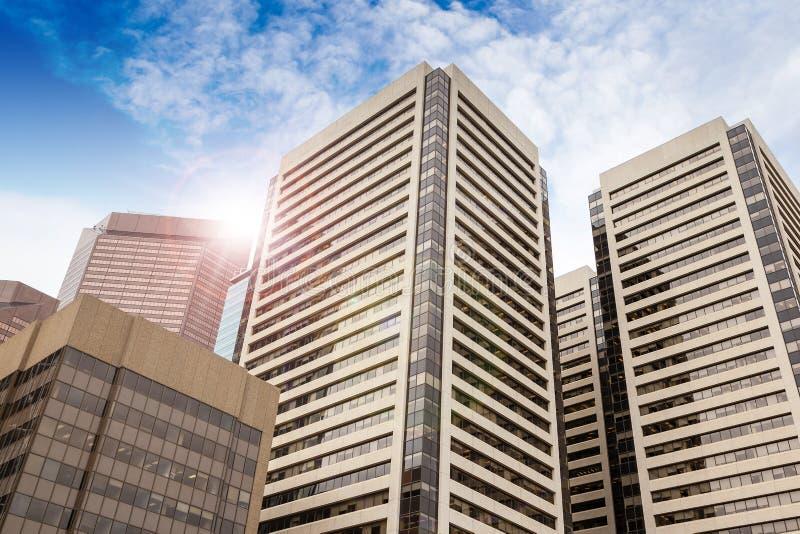 Immeubles de bureaux du centre à Calgary, Alberta image stock