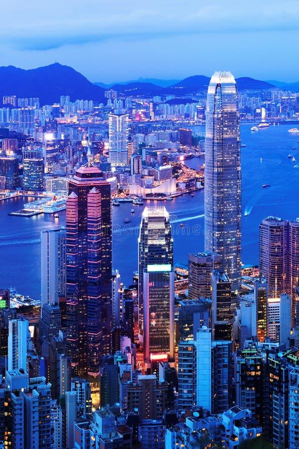 Immeubles de bureaux modernes en Hong Kong photographie stock libre de droits